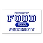 Food University Property Rectangle Sticker