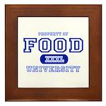 Food University Property Framed Tile