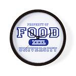 Food University Property Wall Clock