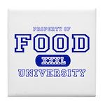 Food University Property Tile Coaster