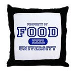 Food University Property Throw Pillow