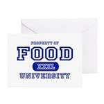 Food University Property Greeting Cards (Package o
