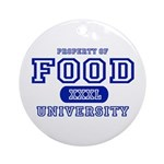 Food University Property Ornament (Round)
