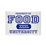 Food University Property Rectangle Magnet