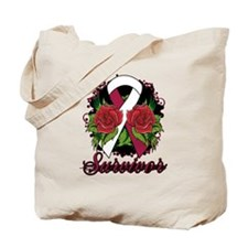 Throat Cancer Survivor Tattoo Tote Bag