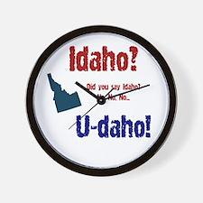 Idaho? U-daho! Wall Clock