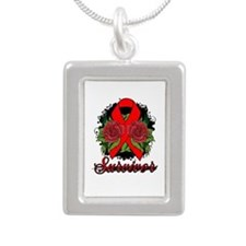 Stroke Survivor Tattoo Silver Portrait Necklace