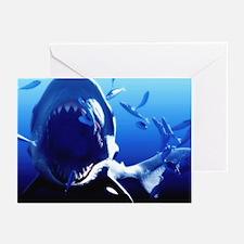 Megalodon prehistoric shark - Greeting Cards (Pk o