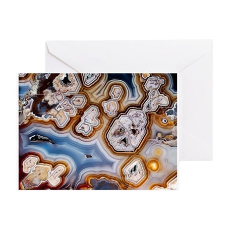 Slice of honeycomb agate - Greeting Cards (Pk of 1