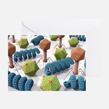 Viruses, artwork - Greeting Cards (Pk of 10)