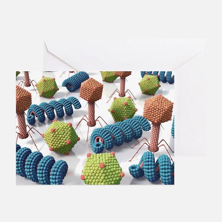 Viruses, artwork - Greeting Cards (Pk of 10)