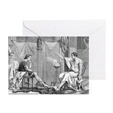Alexander of Macedon and Aristotle - Greeting Card