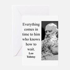 Everything Comes In Time - Leo Tolstoy Greeting Ca
