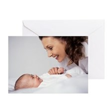 Mother and baby girl - Greeting Cards (Pk of 10)
