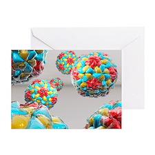 Rhinovirus particles - Greeting Cards (Pk of 10)