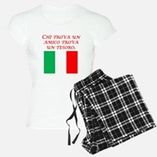 Italian Proverb Friend Treasure Pajamas