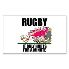 It Only Hurts Rectangle Decal