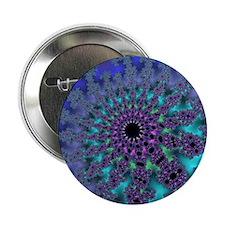 "Peacock Fractal Burst 2.25"" Button"