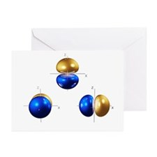 2p electron orbitals - Greeting Cards (Pk of 10)