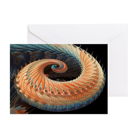 Dragon tail fractal - Greeting Cards (Pk of 10)