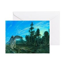 Artwork of a Maiasaura dinosaur - Greeting Cards (