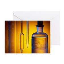 Etched laboratory glassware - Greeting Cards (Pk o
