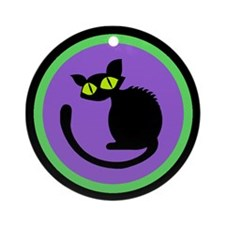 Black Cats Welcome Ornament (Round)