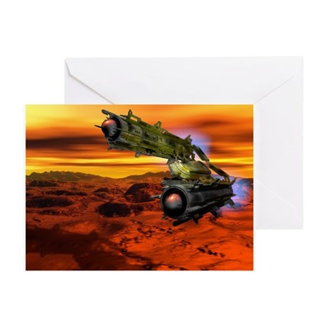 Mars mining vehicle - Greeting Cards (Pk of 10)