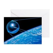 Sputnik 1 satellite - Greeting Cards (Pk of 10)