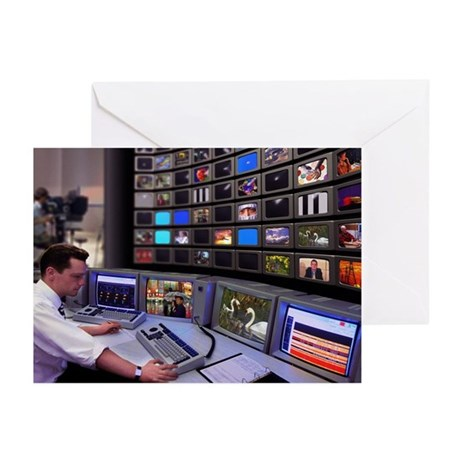 Television control room - Greeting Cards (Pk of 10