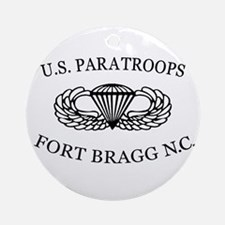 U.S.Paratroops Fort Bragg Ornament (Round)
