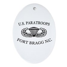 U.S.Paratroops Fort Bragg Ornament (Oval)