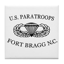 U.S.Paratroops Fort Bragg Tile Coaster