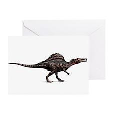 Spinosaurus dinosaur, artwork - Greeting Cards (Pk