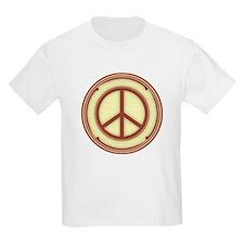 Ivory Peace Kids T-Shirt