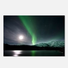 Aurora borealis and Moon - Postcards (Pk of 8)