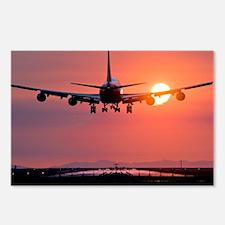 Aeroplane landing at sunset, Canada - Postcards (P