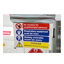 Asbestos removal warning signs - Postcards (Pk of