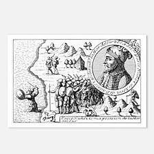 Balboa claiming the South Sea for Spain - Postcard