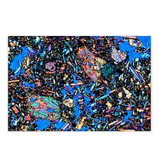 Basalt, thin section, polarised LM - Postcards (Pk