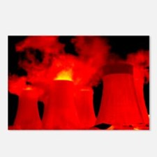 Cooling towers, thermogram - Postcards (Pk of 8)