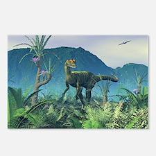 Dilophosaurus, artwork - Postcards (Pk of 8)