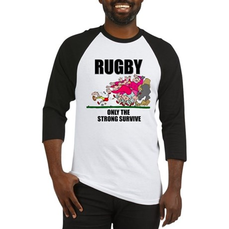 Only The Strong Rugby Baseball Jersey