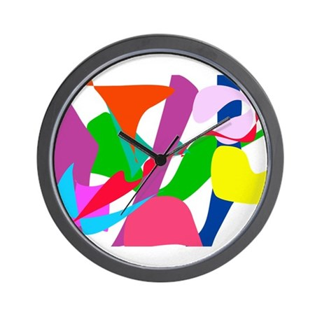 Colorful Abstract Wind Wall Clock