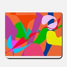 Colorful Abstract Orange Mousepad