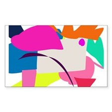 Colorful Abstract Bird Decal