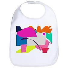 Colorful Abstract Bird Bib