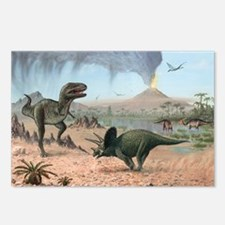 Late Cretaceous life, artwork - Postcards (Pk of 8