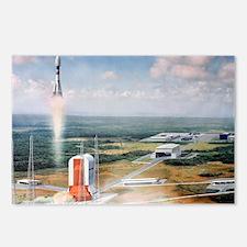Launch pad model, Guiana Space Centre - Postcards