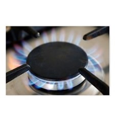 Lit gas ring - Postcards (Pk of 8)